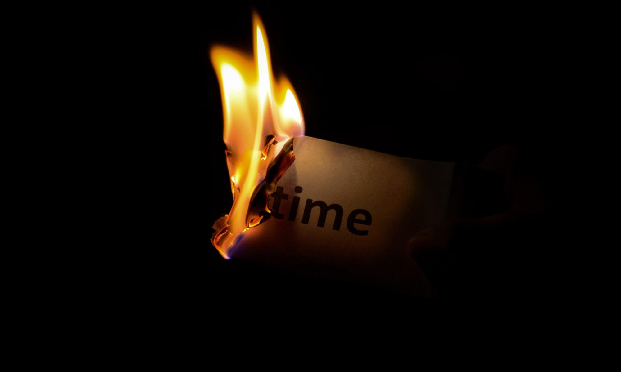 Vergeudung von Zeit